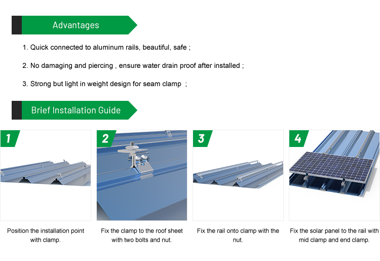metal roof pv mounting systems from china
