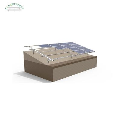 Steel Double Pole Solar Mounting System
