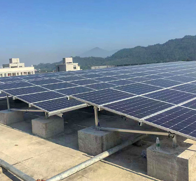 2019.01 China 108kW Roof Solar Mounting System