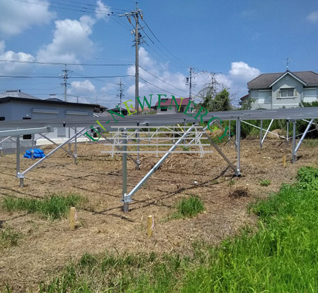 2018.08 Japan 50kW Ground Solar Mounting System